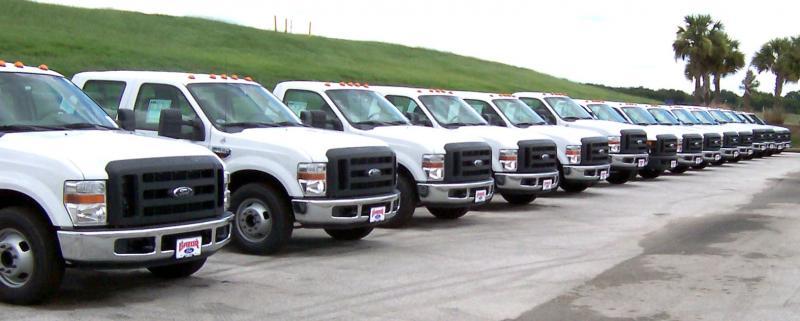 Fleet of Commercial Auto Trucks